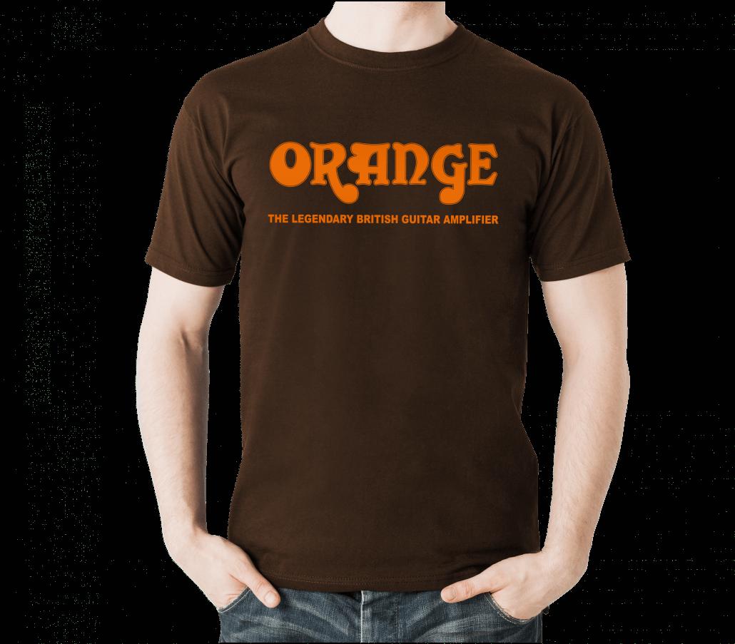 Classic orange t shirt orange amps for My logo on a shirt