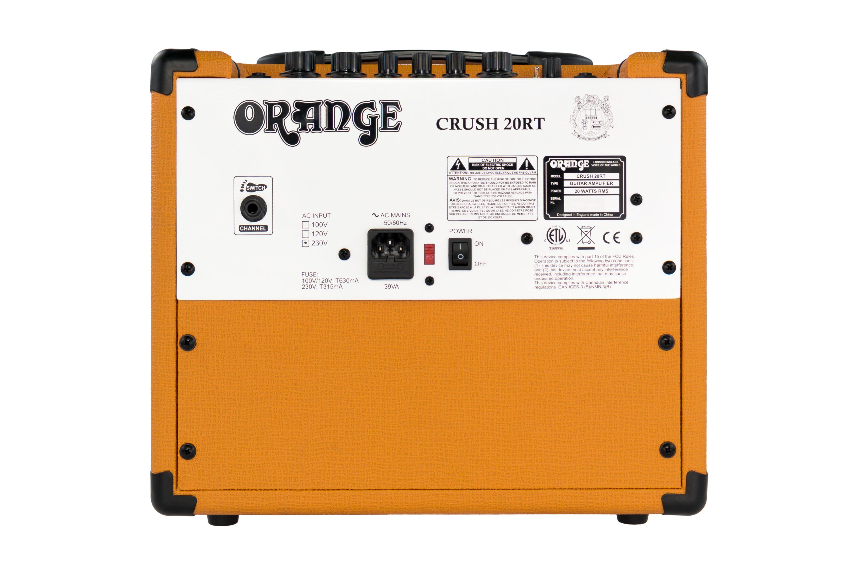Crush 20rt Manual Orange Amps Guitar Amp Input Jack Wiring 1
