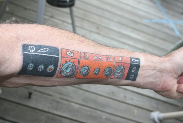 OR50 faceplate tattoo...this man is a HERO