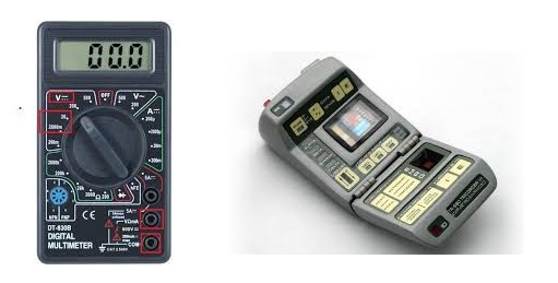 On the left a multi-meter…on the right Spock's Tricorder…we can't tell the difference either…