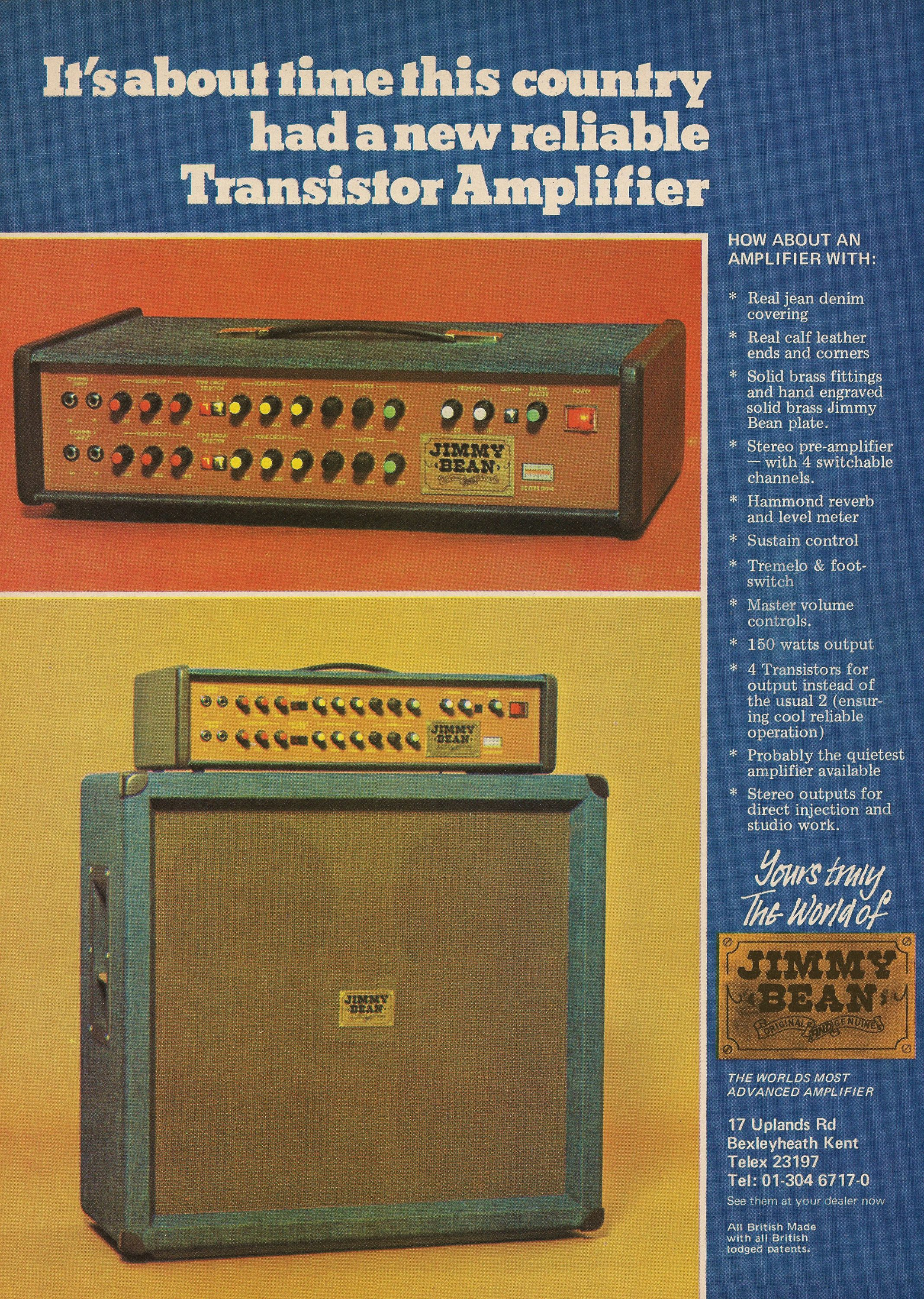 1975 Jimmy Bean Orange Amps The Birth Of An Amplifier Head 412 Cabinet