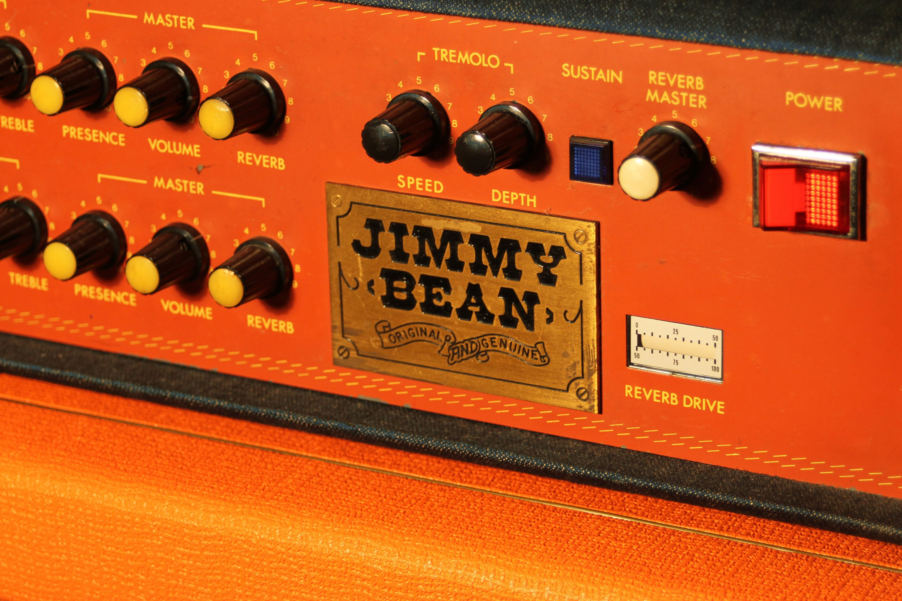 1975 Jimmy Bean Orange Amps The Birth Of An Amplifier Front Panel